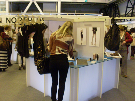 Fashion student at Northumbria stand