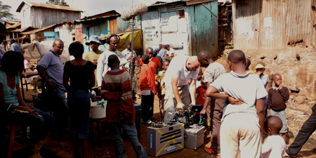 On Set in Kibera