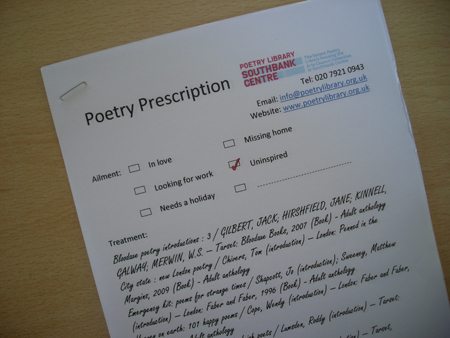 poetry prescription