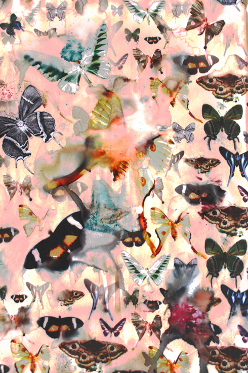 Butterfly pattern by textile designer Sophie Bard