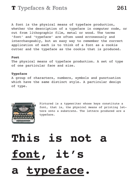 Definition of the week... 'Typefaces & Fonts'