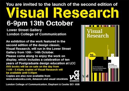 Book launch Visual Research 2nd edition by Bestley and Noble