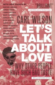 """""""Many 33 1/3 authors reference this book as an significant influence to their work with the series, and it deserves every bit of praise. Not only does Wilson incorporate a number of arguments as to why Celine Dione is a strong, independent woman who uses her voice as a cannon to inspire but also turns the gun on our taste. Too many music listeners neglect certain artists or bands based on what others think, even though a majority of people may not feel that way. While Americans criticize Dione for being """"the Titanic lady"""", other countries love her for her use of """"schmaltz"""", music that isn't specific to one group of people. Every culture has a different connection to it, allowing her to be a world-renowned star. Realizing this reveals our tastes' close-minded tendencies. Music can be an enlightening and challenging experience, if you allow it to be, and can surface numerous rewards, and Wilson proves that in his analysis.""""  - Sam Willett"""