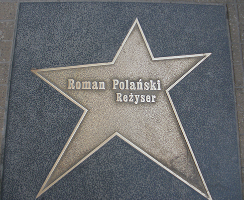 Roman Polański's star in Łódź (photo by Richard Martin)