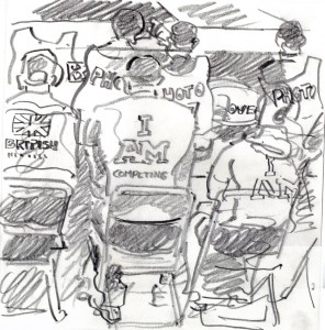 Reportage drawing by Gary Embury at the Invictus Games 2014