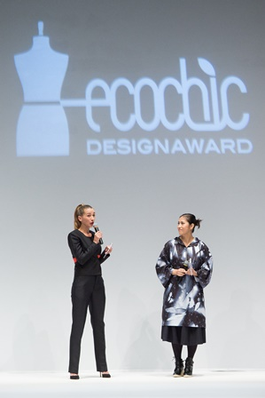 Christina Dean Founder Redress wears Kevin Germanier upcycled collection for Shanghai Tang_Cherry Wong wears Alex Leau