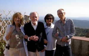 Andrea, Ronald, Monica and Derek on the terrace